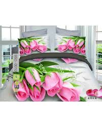 buy adorable pink roses printed 5d bed sheets in pakistan ebuy pk