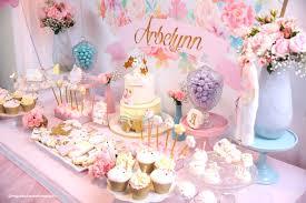 1st birthday party kara s party ideas dessert spread from a baby unicorn 1st birthday