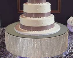 silver wedding cake stand diamond cake stand etsy