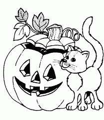 halloween cat coloring free printable halloween coloring