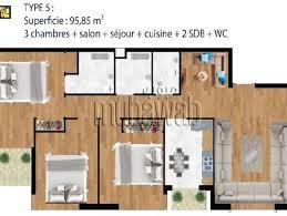 plan appartement 3 chambres bouskoura 2 078 appartements à bouskoura mitula immo