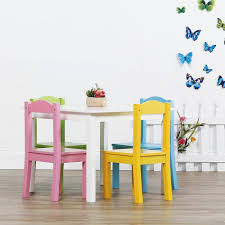 Kids Wood Table And Chair Set Tot Tutors Pastel 5 Piece Kids Table And Chair Set Tc714 The