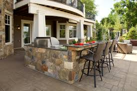 kitchen dark grey stone outdoor kitchen design counter bar