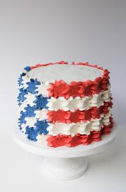 Blue And Black Striped Flag Buttercream Stars And Stripes Flag Cake Erin Bakes