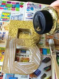 brooke u0026 jane gold glitter paper mache letter tutorial navy