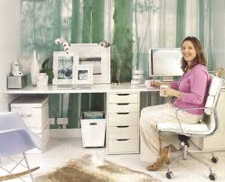White Office Decorating Ideas Home Office Awesome Home Office Design Using White Corner Desk