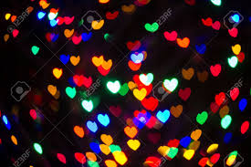 heart shaped christmas lights abstract heart shaped bokeh background of multi colored christmas
