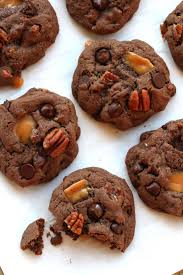 mexican chocolate caramel pecan cookies turtle cookies the
