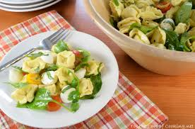 pasta salad cheese tortellini pasta salad with tomatoes arugula and