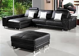 Sectional Sofa With Ottoman Compact Black Sectional Sofa Ottoman Tos Lf 5622 Lher