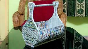 how to make a newspaper rack holder youtube