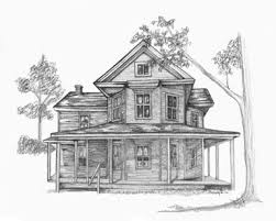 drawing houses pencil drawings of old houses old house 11 x 14 150 old tree 11