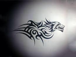 tiger tribal design wallpaper designs