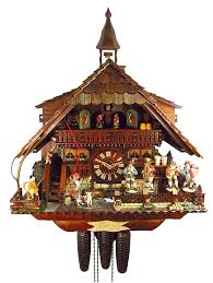 clocks chalet style cuckoo clocks with dancer and farm for wall