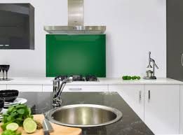 emerald glass splashback kitchen kitchens backsplash coloured