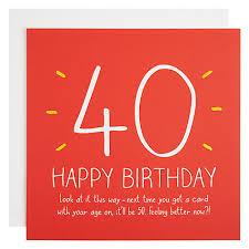 buy happy jackson 40th happy birthday card john lewis