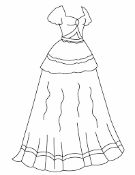 design your own dress dress coloring page kjnoons