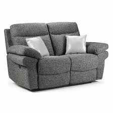 Grey Recliner Sofa Manual Fabric 2 Seater Reclining Sofa Next Day Delivery