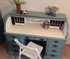 vintage roll top desk home office desk painted by vintagehipdecor