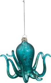glass octopus ornament at seasideinspired home