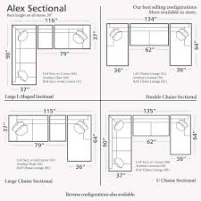 average living room size inspirations and alexshaped sectional