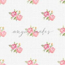 shabby chic flowers chic flower background with dots and pink watercolor flowers