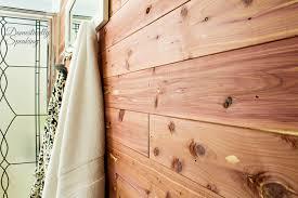 cedar wood wall cedar plank bathroom wall domestically speaking
