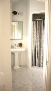 stunning guest bathroom with gray walls paint color glossy white