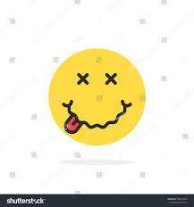 toast emoji yellow drunk emoji face icon concept stock vector 506816764