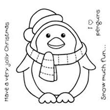 christmas penguin coloring pages printable coloring home
