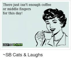 Middle Finger Cat Meme - there just isn t enough coffee or middle fingers for this day