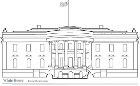 white house coloring 3799