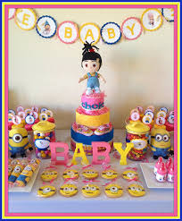 minion baby shower ideas baby shower its a girl baby shower party ideas