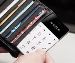 minimalistic credit card sized phone