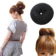 donut bun elastic chignon holder band hair donut bun maker hair styling