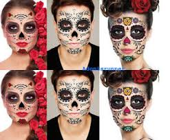 6 day of the dead sugar skull temporary set 3 kits assorted