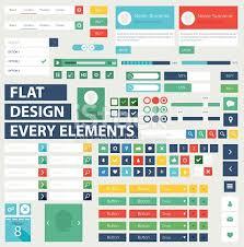 ui pattern names style flat ui kit design elements for web design stock vector art