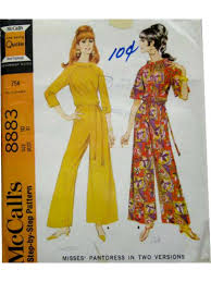 60s jumpsuit 60 s vintage sewing pattern 1967 mccalls 8883 womens sewing