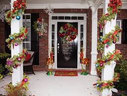 Christmas Decorations For Front Door Porch top 10 inspirational christmas front porch decorations top inspired