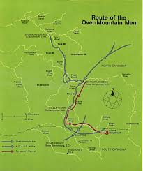 Tennessee Mountains Map by Battle Of Kings Mountain Revolutionary War Kings Mountain