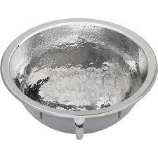 shop elkay asana hammered mirror stainless steel round bathroom