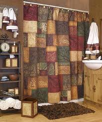 Shower Curtains With Matching Accessories Adirondack Pine Bath Accessories