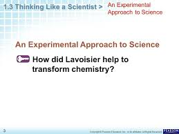 chapter 1 introduction to chemistry 1 3 thinking like a scientist