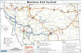 Bnsf Subdivision Map Montana Railroad Map Montana Map