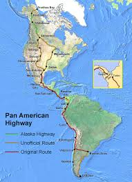 Map Of South And Central America Pan American Highway Wikipedia