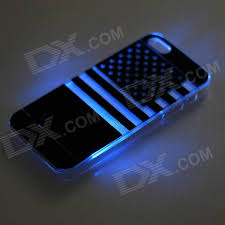 american flag pattern led flash color changing protective abs