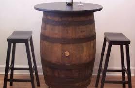 whiskey barrel bar table wine barrels pub table 10 feet long with shelving elegant barrel bar