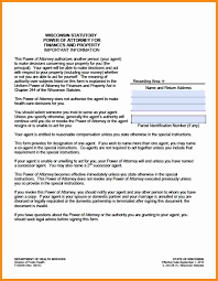 Durable Power Of Attorney For Finances Form by 11 Wisconsin Power Of Attorney Forms Action Plan Template