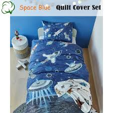Space Single Duvet Cover 100 Cotton Space Blue Quilt Cover Set Single By Kids Bedding House