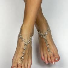 starfish barefoot sandals rhinestone flower barefoot sandals from bare sandals llc